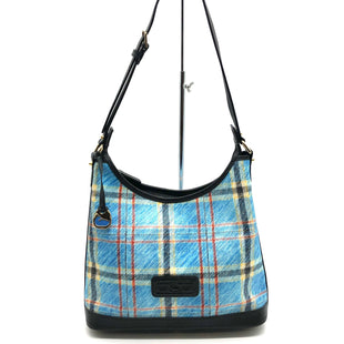 "Primary Photo - BRAND: DOONEY AND BOURKE STYLE: HANDBAG DESIGNER COLOR: BLUE PLAID SIZE: MEDIUM SKU: 262-26241-45433DESIGNER BRAND FINAL SALE AS IS SLIGHT MARKS (SEE PHOTOS) APPROX 13""X9""X3"""