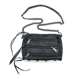 "Primary Photo - BRAND: REBECCA MINKOFF STYLE: HANDBAG DESIGNER COLOR: BLACK SIZE: SMALL SKU: 262-262101-2128AS IS SLIGHT WEAR, TARNISH ON HARDWARE DESIGNER BRAND FINAL SALE APPROX 9""X7""X1.5"""