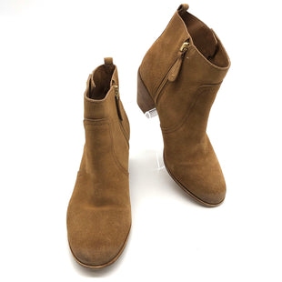Primary Photo - BRAND: TORY BURCH STYLE: BOOTS ANKLE COLOR: CAMEL SIZE: 7.5 SKU: 262-262101-2904DESIGNER BRAND FINAL SALE AS IS WEAR, SLIGHT SPOT, WEAR TO FABRIC ON FRONT AND BACK SIDES (SEE PHOTOS)