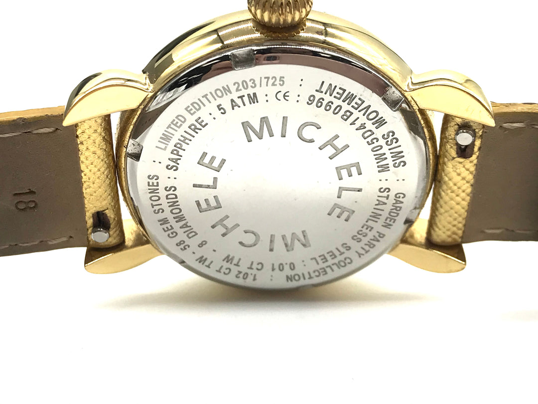 Photo #3 - <P>BRAND: MICHELE <BR>STYLE: LIMITED EDITION BUTTERFLY WATCH - GARDEN PARTY COLLECTION <BR>COLOR: BUTTERFLIES <BR>SKU: 262-26275-69361<BR>WEAR SHOWS ON THE STRAPS <BR>BATTERY NEEDED - AS IS</P>