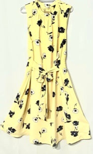 Primary Photo - BRAND: ANN TAYLOR STYLE: DRESS SHORT SLEEVELESS COLOR: YELLOW FLORALSIZE: XL SKU: 262-26275-67997