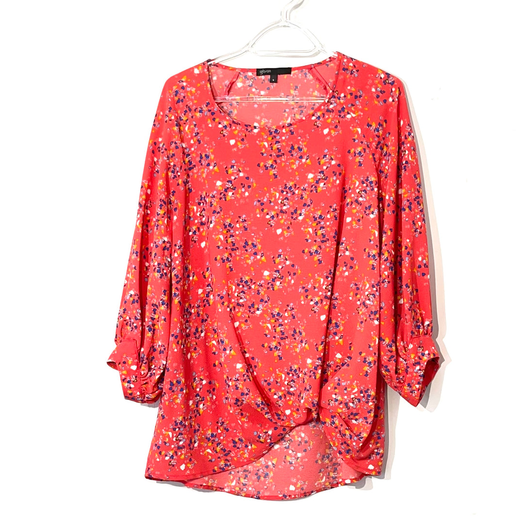 Primary Photo - BRAND: GIBSON <BR>STYLE: TOP LONG SLEEVE <BR>COLOR: FLORAL <BR>SIZE: S <BR>SKU: 262-26275-74088