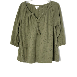 Primary Photo - BRAND: J JILL STYLE: TOP LONG SLEEVE COLOR: OLIVE SIZE: L SKU: 262-26211-145107