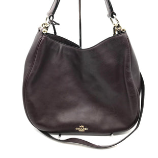 "Primary Photo - BRAND: COACH STYLE: HANDBAG DESIGNER COLOR: MAROON SIZE: MEDIUM SKU: 262-26241-42727APPROX. 13""L X 11""H X 3.5""D. PRICE REFLECTS SOME SLIGHT SPOTSCOLOR MAY APPEAR BLACK IN PHOTOS BUT IS A DEEP MAROON"