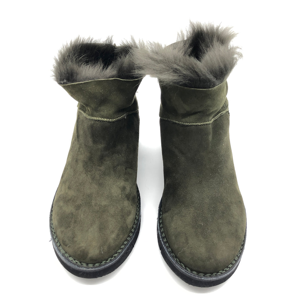 Photo #1 - BRAND:  BOEMOS <BR>STYLE: BOOTS ANKLE <BR>COLOR: OLIVE <BR>SIZE: 13 | 43<BR>SKU: 262-26241-44651<BR>AS IS
