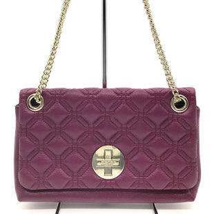 "Primary Photo - BRAND: KATE SPADE STYLE: HANDBAG DESIGNER COLOR: PURPLE SIZE: SMALL 7""H X 12""L X 2.5""WSHOULDER DROP: 10"" SKU: 262-26275-48153IN EXCELLENT SHAPE AND CONDITION"