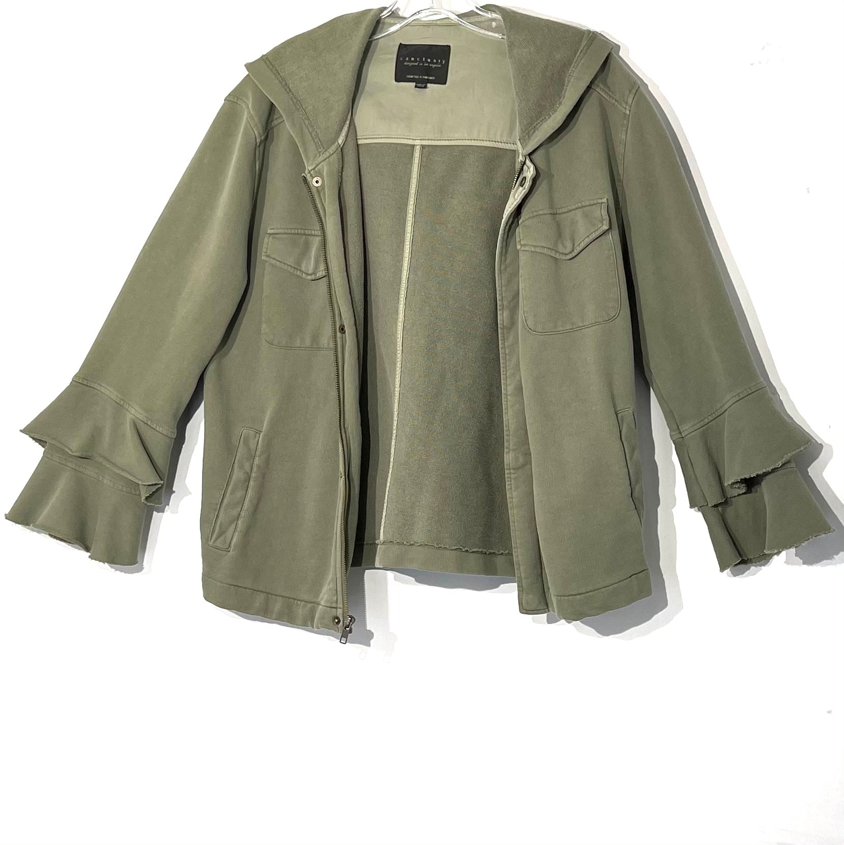 Primary Photo - BRAND: SANCTUARY <BR>STYLE: SWEATER CARDIGAN LIGHTWEIGHT <BR>COLOR: OLIVE <BR>SIZE: S <BR>SKU: 262-26275-74998