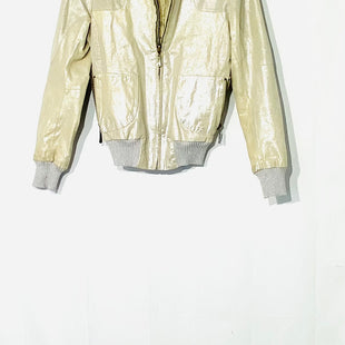 Primary Photo - BRAND:  DOMASTYLE: JACKET LEATHER COLOR: BEIGE METALLIC SIZE: S OTHER INFO: DOMA - SKU: 262-26275-7068690% LEATHER DESIGNER FINAL