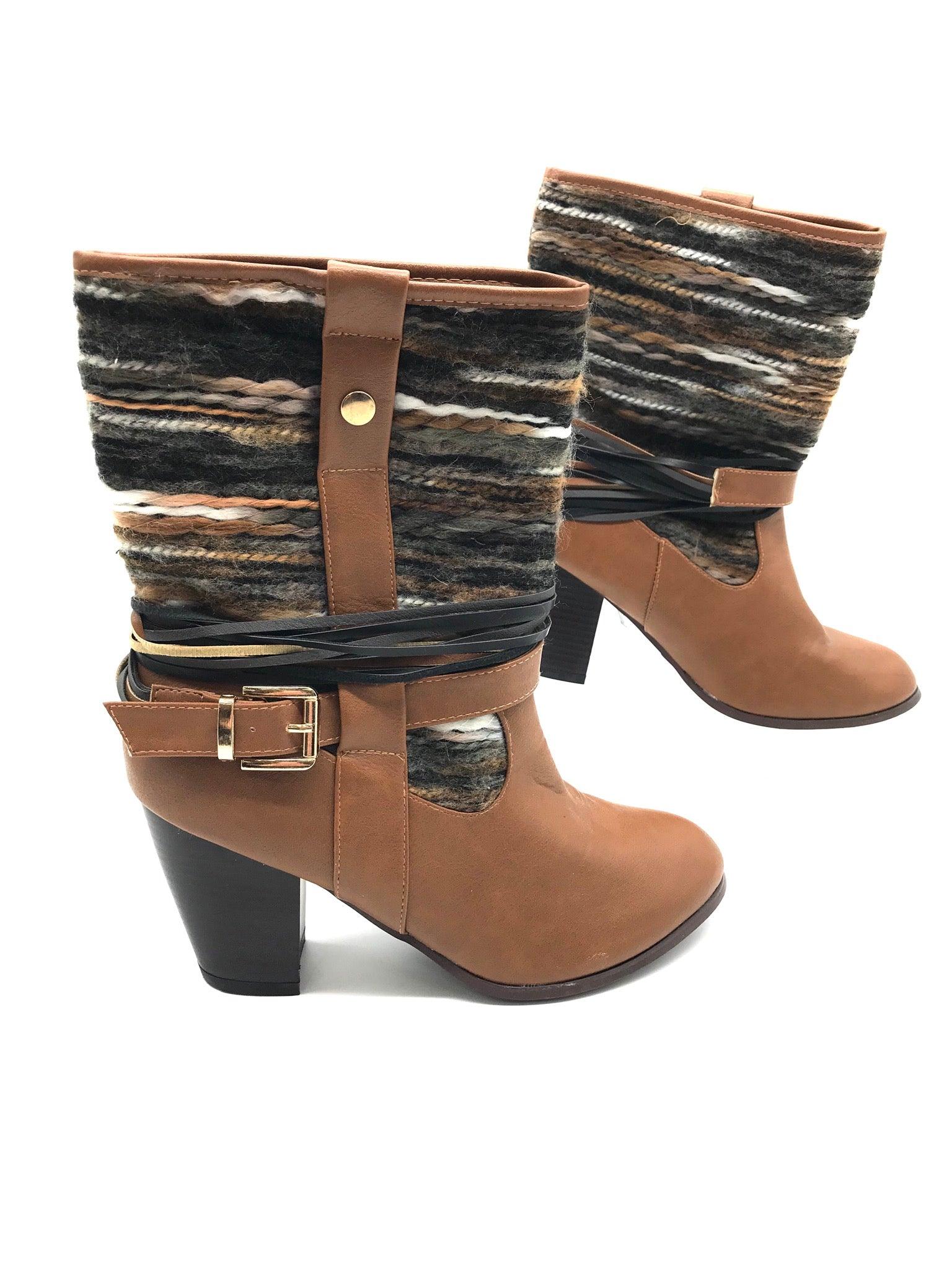 Photo #1 - BRAND: FRANCESCA'S <BR>STYLE: BOOTS ANKLE <BR>COLOR: BROWN <BR>SIZE: 8 <BR>SKU: 262-26275-67422