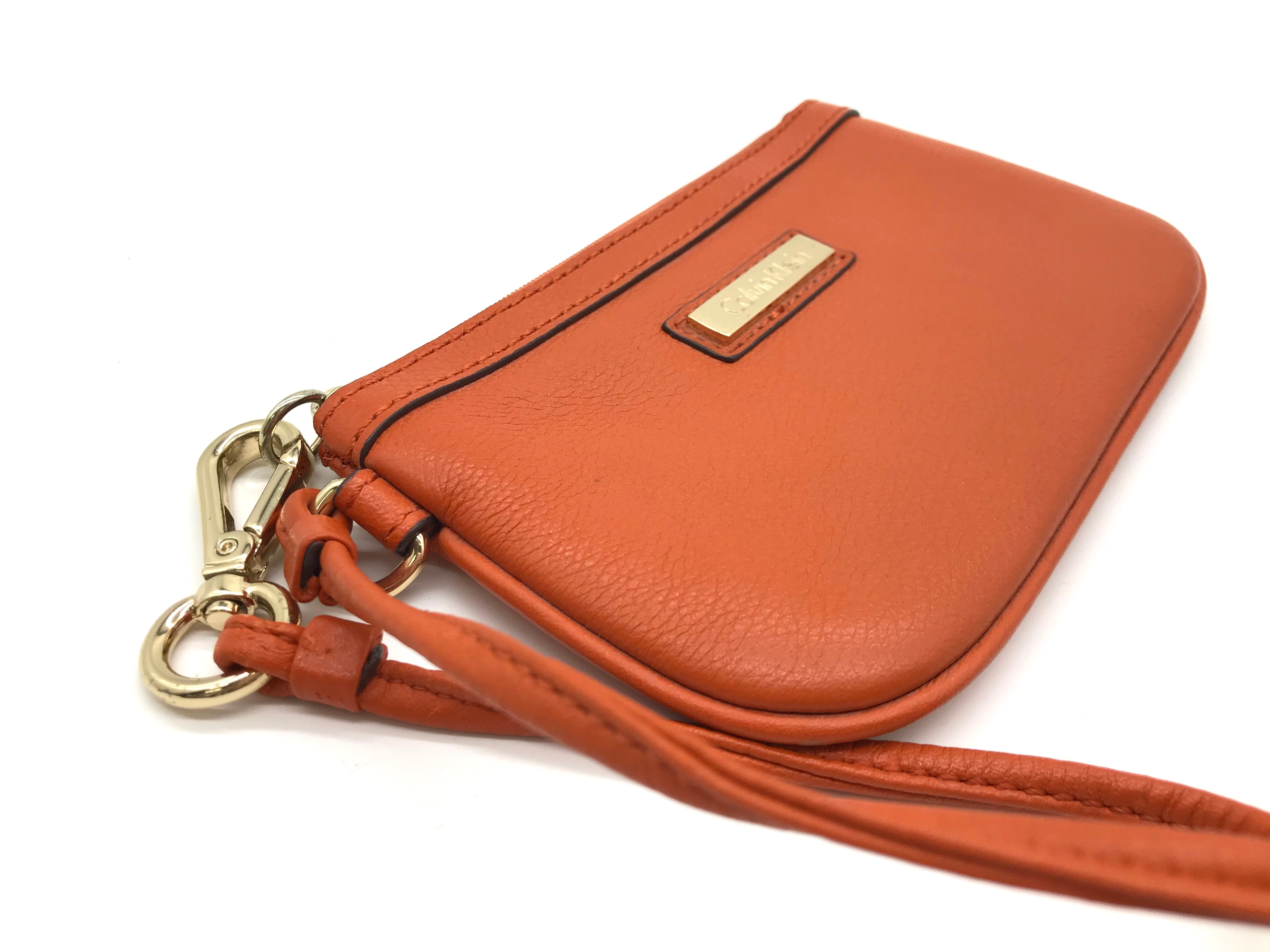 Photo #1 - BRAND: CALVIN KLEIN <BR>STYLE: COIN PURSE <BR>COLOR: ORANGE <BR>SIZE: MEDIUM <BR>SKU: 262-26241-40331<BR>AS IS