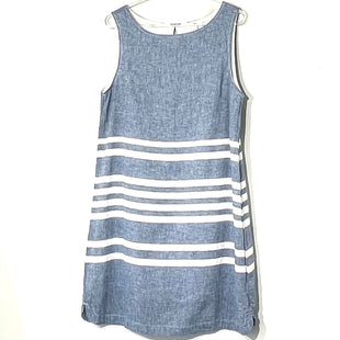 Primary Photo - BRAND: BEACHLUNCHLOUNGE STYLE: DRESS SHORT SLEEVELESS COLOR: BLUE WHITE SIZE: M SKU: 262-26275-7522355% LINEN45% COTTON