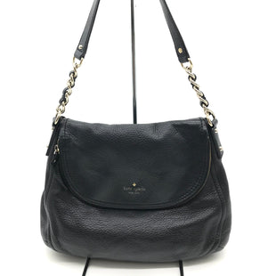 "Primary Photo - BRAND: KATE SPADE STYLE: HANDBAG DESIGNER COLOR: BLACK SIZE: MEDIUM 11""H X 13""L X 5""W HANDLE DROP: 11""SKU: 262-26275-69427GENTLE WEAR • LIGHT STAINS ON THE INTERIOR LINING • AS IS"
