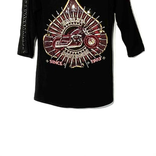 Primary Photo - BRAND: HARLEY DAVIDSON STYLE: TOP 3/4 LONG SLEEVE COLOR: BLACK SIZE: S SKU: 262-26275-73603