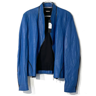 Primary Photo - BRAND: ELIE TAHARI STYLE: JACKET LEATHER COLOR: BLUE SIZE: XL SKU: 262-26275-74564100% LEATHERDESIGNER FINAL