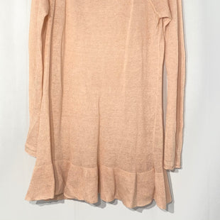 "Primary Photo - BRAND: FREE PEOPLE STYLE: SWEATER LIGHTWEIGHT COLOR: PEACHSIZE: M SKU: 262-26241-42700PIT TO HEM 24"". 100% LINEN."