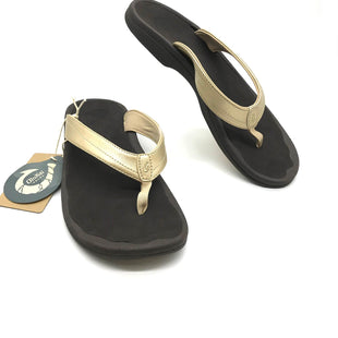 Primary Photo - BRAND:    CLOTHES MENTOR STYLE: FLIP FLOPS COLOR: METALLIC SIZE: 11 OTHER INFO: OLUKAI - SKU: 262-26275-72571AS IS FINAL SALE