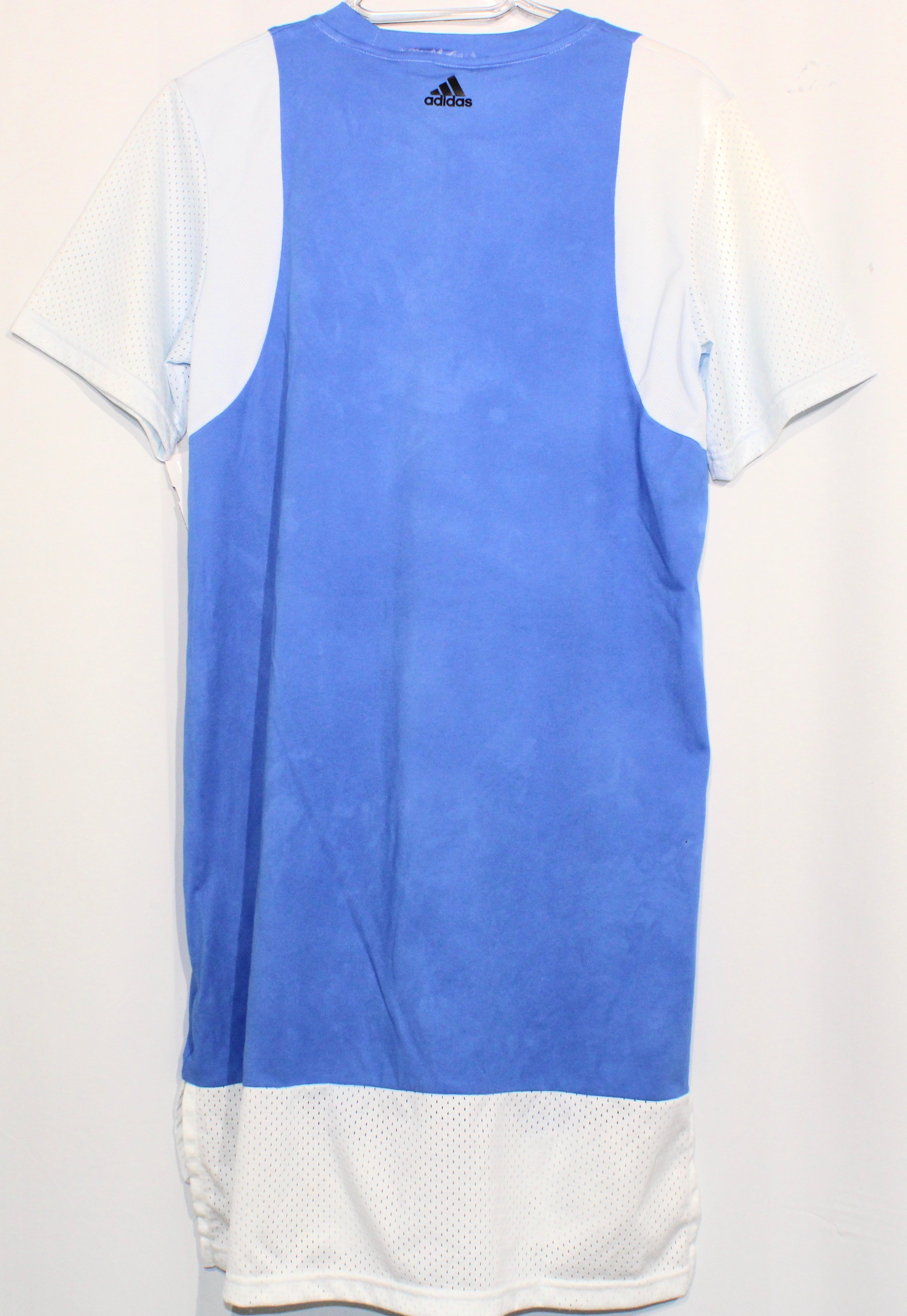 Photo #1 - BRAND: ADIDAS <BR>STYLE: ATHLETIC DRESS SHORT SHORT SLEEVE <BR>COLOR: BLUE WHITE <BR>SIZE: M <BR>SKU: 262-26211-139286