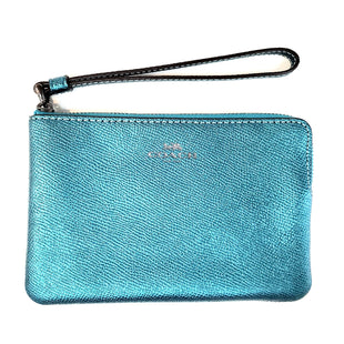 Primary Photo - BRAND: COACH STYLE: WRISTLET COLOR: SHINY TEAL SKU: 262-26241-41360AS IS DESIGNER ITEM FINAL SALE