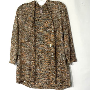 Primary Photo - BRAND: CHICOS OSTYLE: SWEATER CARDIGAN LIGHTWEIGHT COLOR: SEQUIN SIZE: L/2SKU: 262-26275-77875