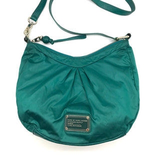 "Primary Photo - BRAND: MARC JACOBS STYLE: HANDBAG DESIGNER COLOR: TEAL SIZE: SMALL 9""H X 13""L X 4.5""WSHOULDER DROP: 25""SKU: 262-26275-69278GENTLE WEAR - AS IS"