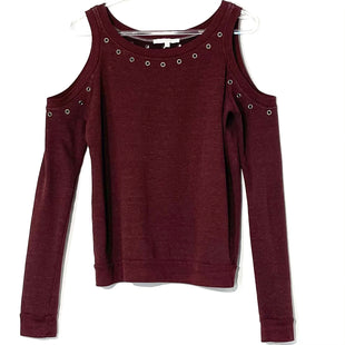 Primary Photo - BRAND: REBECCA MINKOFF STYLE: TOP LONG SLEEVE COLOR: MAROON SIZE: XS SKU: 262-26275-75951COLD SHOULDER STYLE