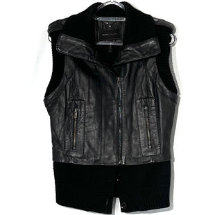 Primary Photo - BRAND: BCBGMAXAZRIA STYLE: VEST LEATHER COLOR: BLACK SIZE: S SKU: 262-26275-75909100% REAL LEATHER