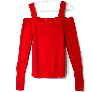 Primary Photo - BRAND: ANTHROPOLOGIE STYLE: TOP LONG SLEEVE COLOR: RED SIZE: M OTHER INFO: AS IS SLIGHT PILLING SKU: 262-26241-44702