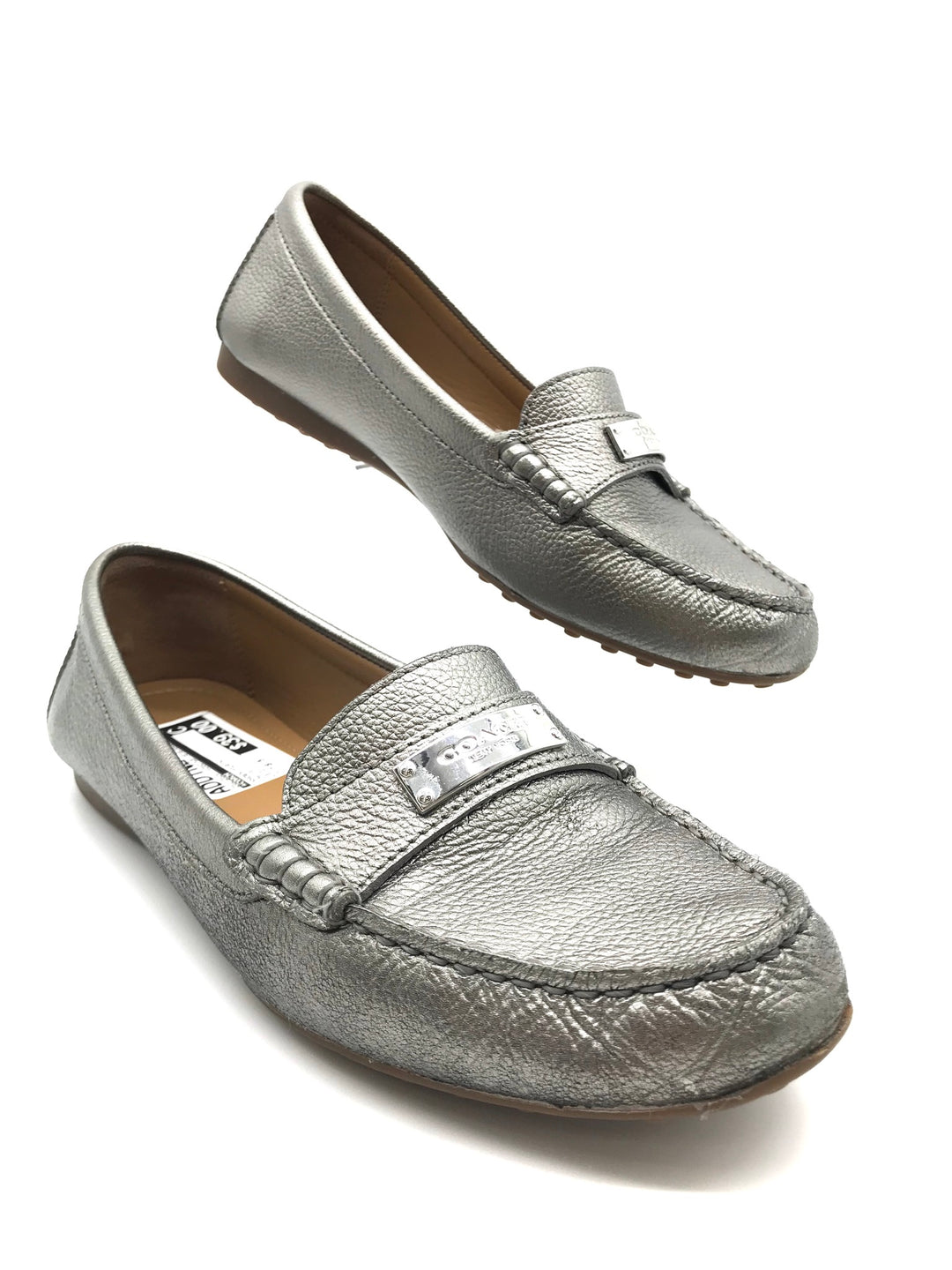 Primary Photo - BRAND: COACH <BR>STYLE: SHOES FLATS <BR>COLOR: METALLIC <BR>SIZE: 8.5 <BR>SKU: 262-26241-40507<BR>IN GOOD SHAPE AND CONDITION