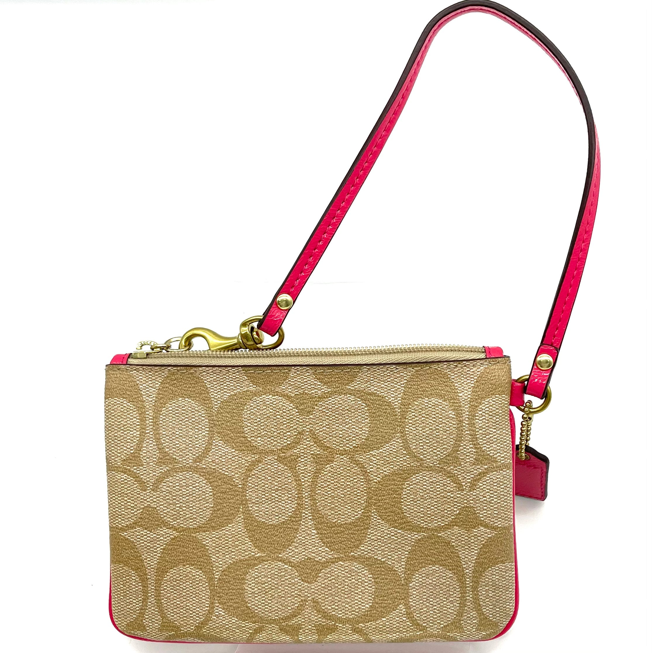 "Photo #1 - BRAND: COACH <BR>STYLE: COIN PURSE <BR>COLOR: PINKBROWN MONOGRAM <BR>SIZE: SMALL<BR>SKU: 262-26241-46841<BR>DESIGNER FINAL <BR>6""LX4""HX.5""D<BR>"