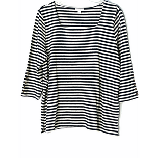 Primary Photo - BRAND: J JILL STYLE: TOP 3/4 LONG SLEEVE COLOR: STRIPED SIZE: L SKU: 262-26211-145117