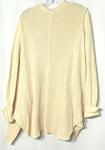 Photo #1 - BRAND: FREE PEOPLE <BR>STYLE: SWEATER CARDIGAN LIGHTWEIGHT <BR>COLOR: CREAM<BR>SIZE: XS /S<BR>SKU: 262-26275-68663<BR>OVERSIZED