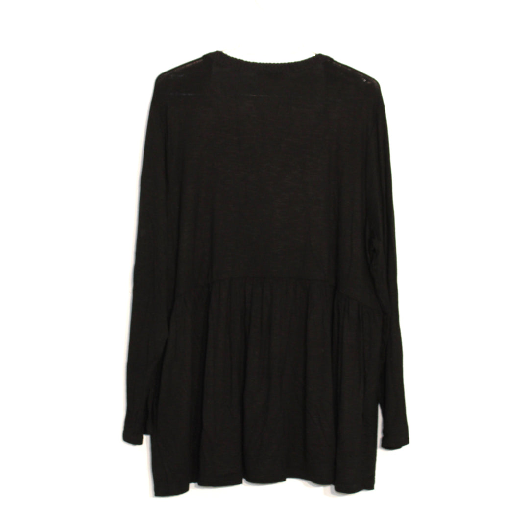 Photo #1 - BRAND: STYLE AND COMPANY <BR>STYLE: TOP LONG SLEEVE <BR>COLOR: BLACK <BR>SIZE: 2X <BR>SKU: 262-262101-793