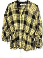 Primary Photo - BRAND: WE THE FREE FREE PEOPLE<BR>STYLE: TOP LONG SLEEVE <BR>COLOR: CHECKED <BR>SIZE: S <BR>SKU: 262-26211-140798