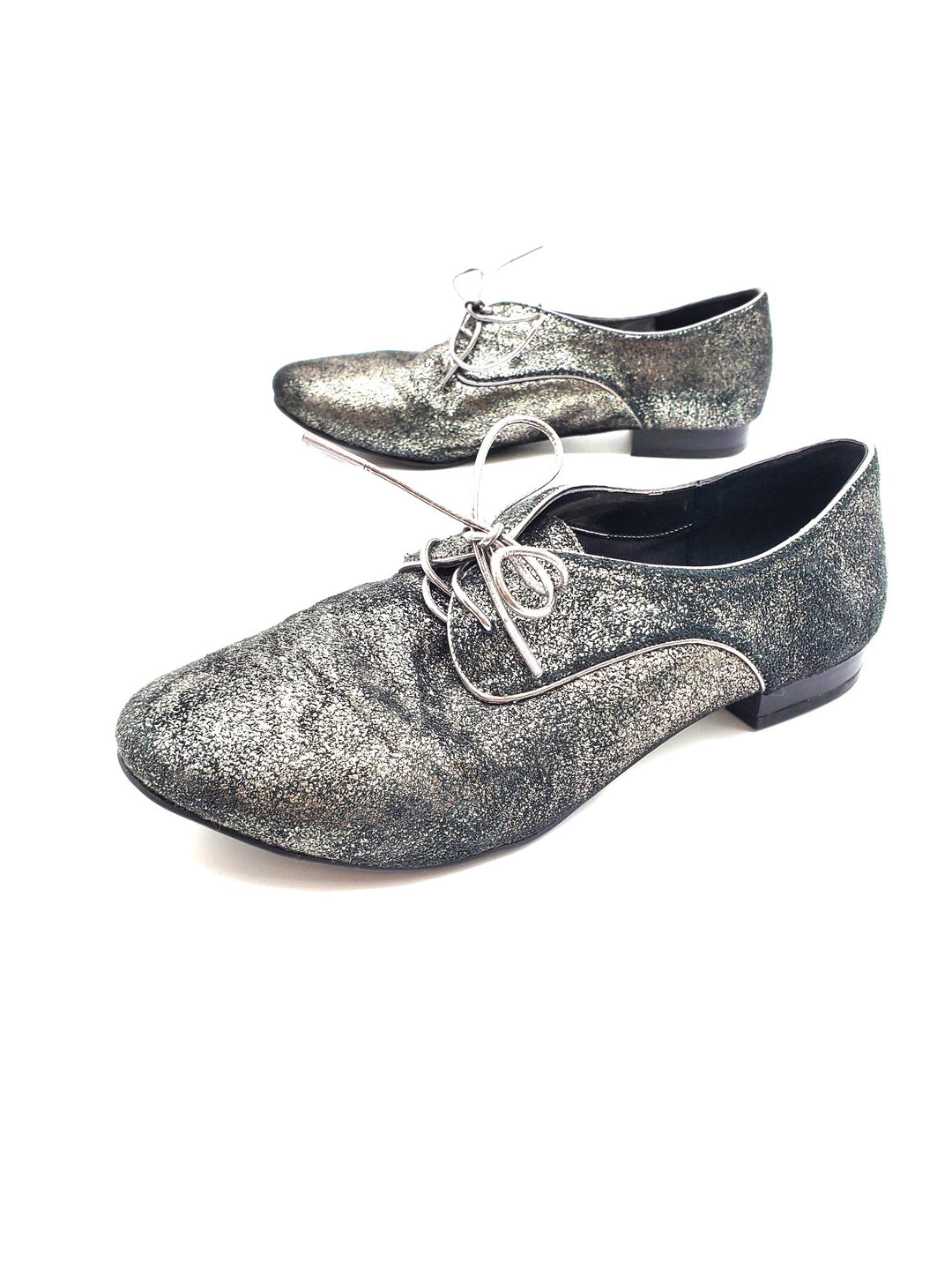 Photo #1 - BRAND: BCBGENERATION <BR>STYLE: SHOES FLATS <BR>COLOR: SPARKLES <BR>SIZE: 6.5 <BR>SKU: 262-26241-41758<BR>AS IS <BR>