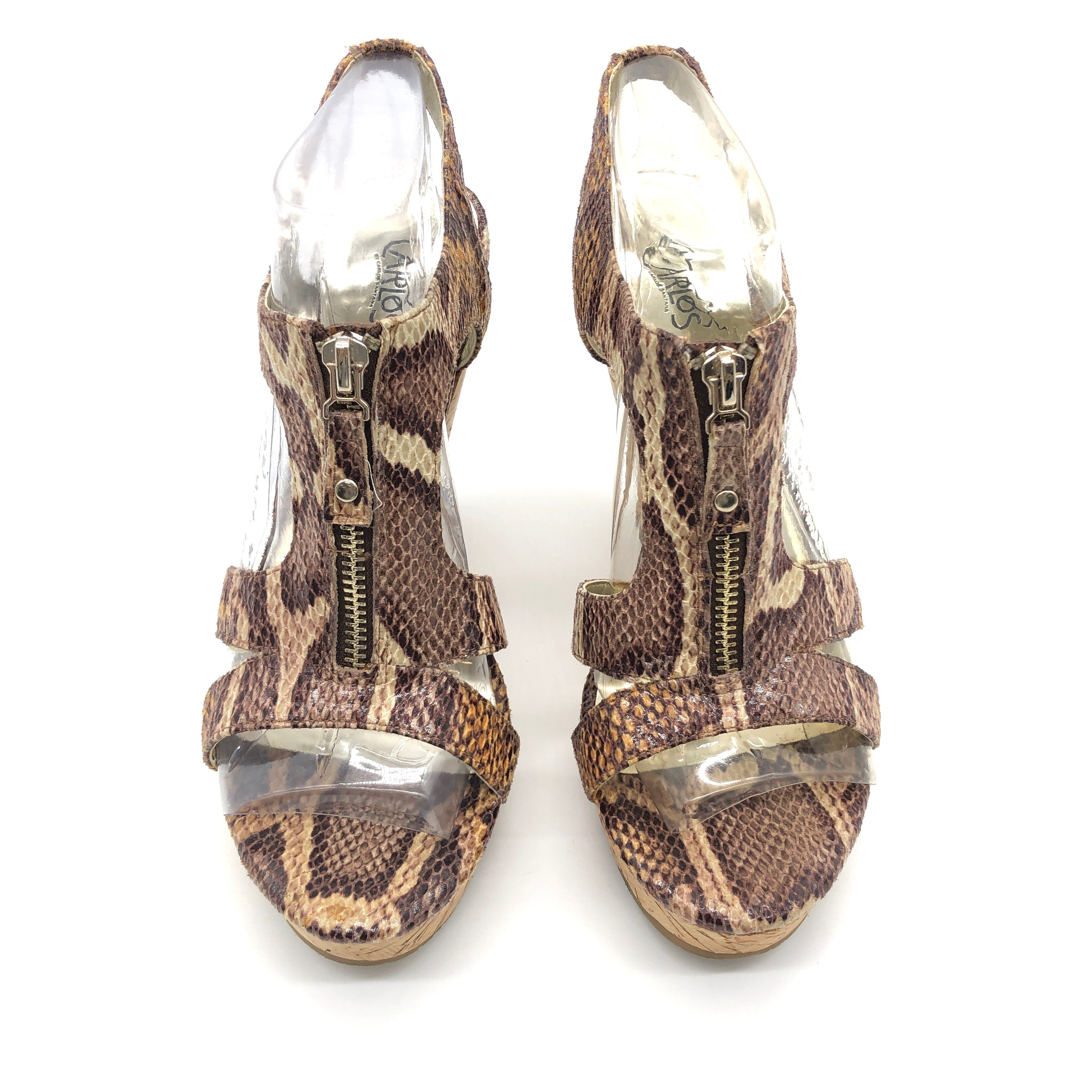 Photo #1 - BRAND: CARLOS SANTANA <BR>STYLE: SANDALS LOW <BR>COLOR: SNAKESKIN PRINT <BR>SIZE: 8 <BR>SKU: 262-26275-75415<BR>IN GOOD SHAPE AND CONDITION