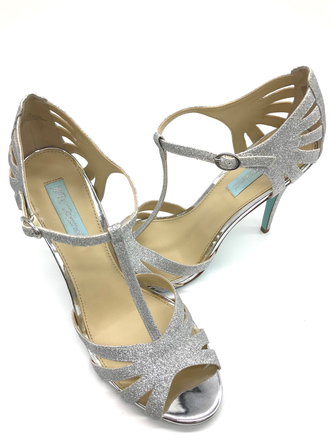 Photo #2 - BRAND: BETSEY JOHNSON <BR>STYLE: SANDALS HIGH <BR>COLOR: SILVER <BR>SIZE: 9.5 <BR>SKU: 262-26275-62519<BR>IN NEW CONDITION - AS IS