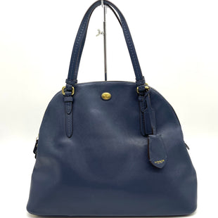 "Primary Photo - BRAND: COACH STYLE: HANDBAG DESIGNER COLOR: NAVY LEATHERSIZE: MEDIUM SKU: 262-262101-2975GENTLEST WEAR AS IS14.5""LX11.5""HX5""WDROP 6"""