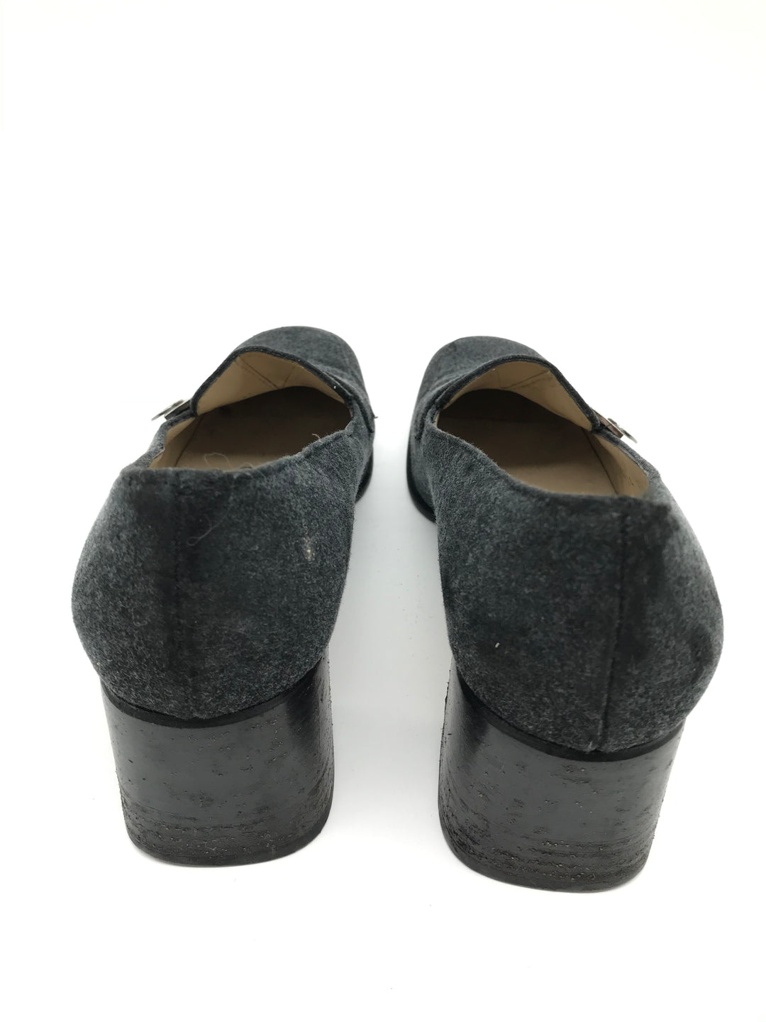 Photo #1 - BRAND: SALVATORE FERRAGAMO <BR>STYLE: SHOES LOW HEEL <BR>COLOR: GREY <BR>SIZE: 6 <BR>SKU: 262-26275-64912<BR>GENTLE WEAR - AS IS