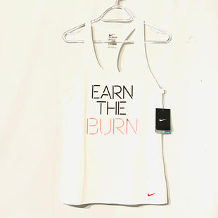 Primary Photo - BRAND: NIKE APPAREL STYLE: ATHLETIC TANK TOP COLOR: WHITE SIZE: M SKU: 262-26275-74210