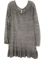 "Primary Photo - BRAND: FREE PEOPLE <BR>STYLE: SWEATER LIGHTWEIGHT <BR>COLOR: BLACK WHITE<BR>SIZE: M <BR>SKU: 262-26241-42699<BR>PIT TO HEM 24""<BR>100% LINEN"