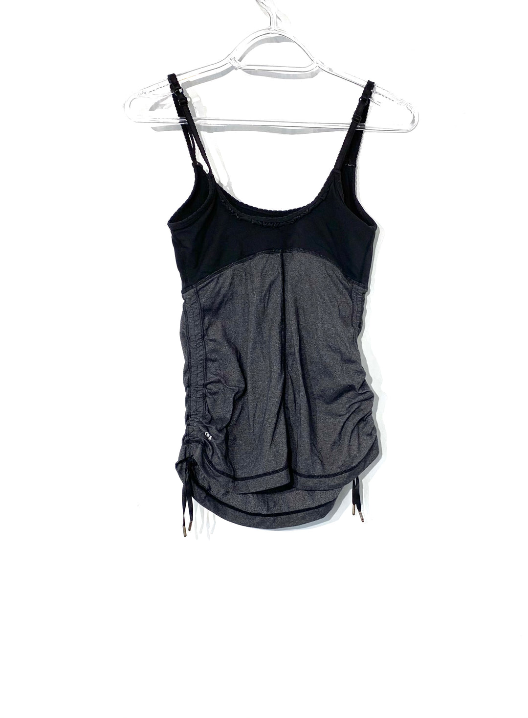 Photo #1 - BRAND: LULULEMON <BR>STYLE: ATHLETIC TANK TOP <BR>COLOR: BLACK <BR>SIZE: XS /S<BR>SKU: 262-26275-72192<BR>DESIGNER FINAL <BR>SIZE TAG MISSING AS IS <BR>BRA INSERTS MISSING AS IS<BR>GENTLE WEAR