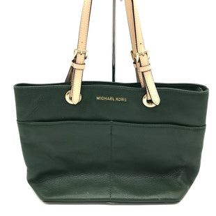 "Primary Photo - BRAND: MICHAEL KORS STYLE: HANDBAG DESIGNER COLOR: GREEN SIZE: MEDIUM SKU: 262-26275-65373COUPLE SLIGHT SPOTS BUT GOOD OVERALL CONDITION. APPROX. 14.5"" L X 10"" H X 5"" D."