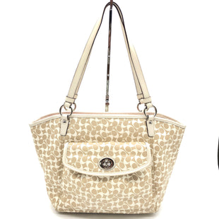 "Primary Photo - BRAND: COACH STYLE: HANDBAG DESIGNER COLOR: MONOGRAM SIZE: MEDIUM 11""H X 5""W X 16.5""LSKU: 262-26275-73781GENTLE SPOTS ON THE INTERIOR LINING • OVERALL IN GREAT SHAPE AND CONDITION •"