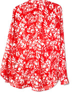 Photo #1 - BRAND: KUT <BR>STYLE: BLOUSE<BR>COLOR: RED WHITE <BR>SIZE: L <BR>SKU: 262-26275-68033
