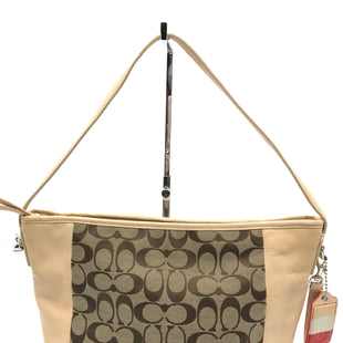 "Primary Photo - BRAND: COACH O STYLE: HANDBAG DESIGNER COLOR: MONOGRAM SIZE: SMALL SKU: 262-26241-43672AS IS DESIGNER BRAND FINAL SALE SLIGHT WEAR TO CORNERS, SLIGHT SPOTS ON THE INSIDE, SMALL SCRATCH OF THE OUTSIDE (SEE PHOTOS)APPROX. 14""X10""X5""HANDLE DROP APPROX. 8"""