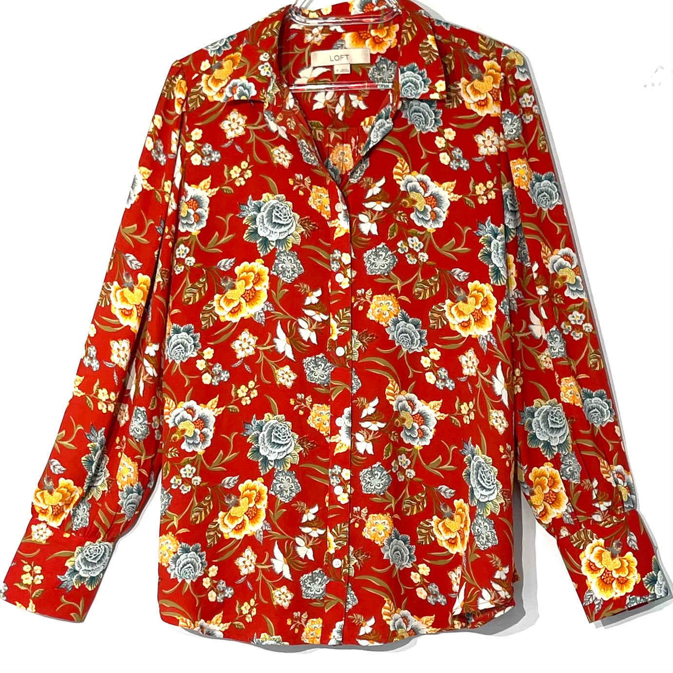 Primary Photo - BRAND: ANN TAYLOR LOFT <BR>STYLE: BLOUSE <BR>COLOR: FLORAL <BR>SIZE: M <BR>SKU: 262-26211-142017
