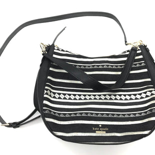 "Primary Photo - BRAND: KATE SPADE STYLE: HANDBAG DESIGNER COLOR: BLACK WHITE SIZE: MEDIUM SKU: 262-26241-42725APPROX. 10"" L X 10""H X 4.5""D"