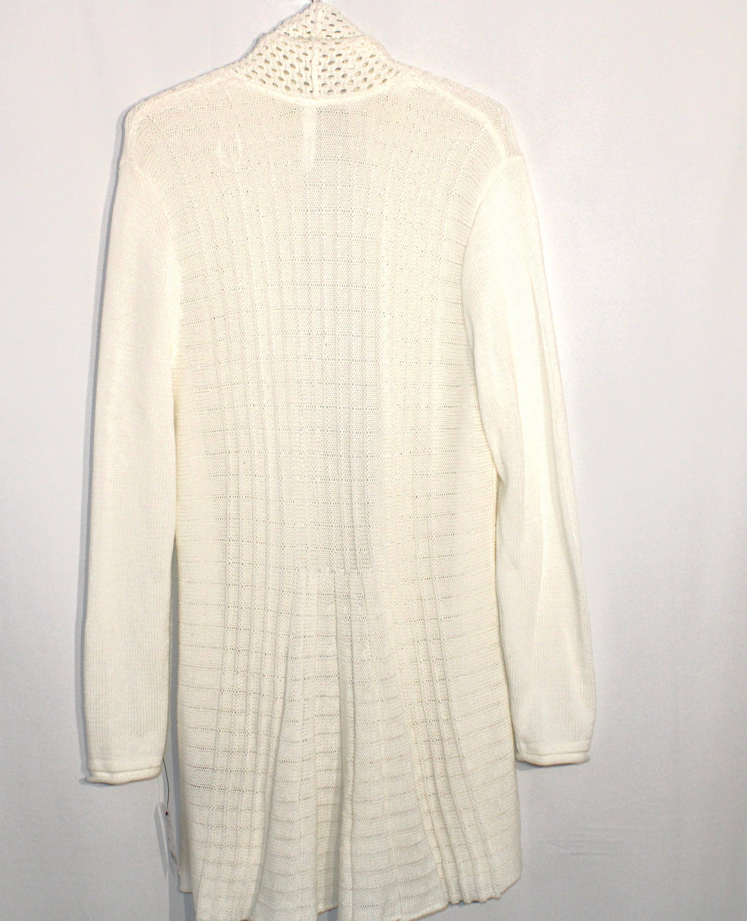 Photo #1 - BRAND: NY COLLECTION <BR>STYLE: SWEATER CARDIGAN LIGHTWEIGHT <BR>COLOR: WHITE <BR>SIZE: L <BR>SKU: 262-26275-61137