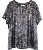 Primary Photo - BRAND: CALVIN KLEIN <BR>STYLE: TOP SHORT SLEEVE <BR>COLOR: SPARKLES SEQUINS <BR>SIZE: XL <BR>SKU: 262-26275-61161
