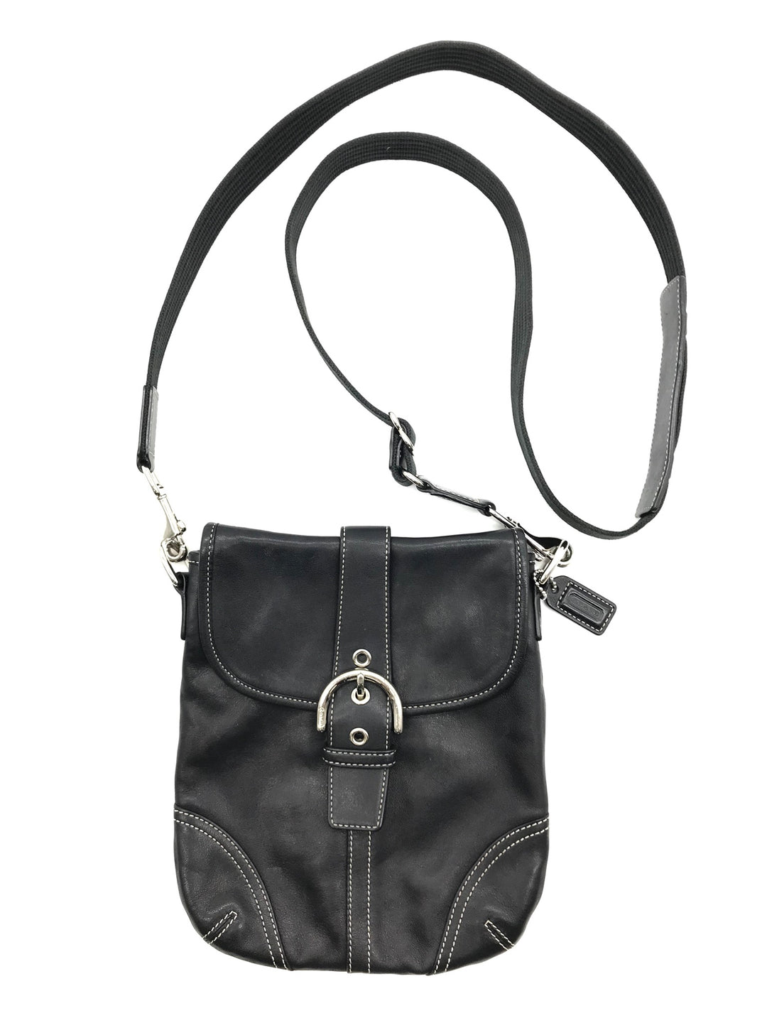Primary Photo - BRAND: COACH <BR>STYLE: HANDBAG DESIGNER <BR>COLOR: BLACK <BR>SIZE: SMALL <BR>SKU: 262-26241-42607<BR>GENTLE WEAR - AS IS